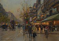 Tablou canvas edouard leon cortes - paris boulevard (2)