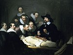 tablou rembrandt - the anatomy lesson of dr. nicolaes tulp (1632)