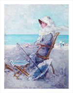 tablou nicolae grigorescu - la plaja