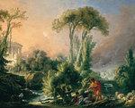 tablou francois boucher - the ancient temple (1762)