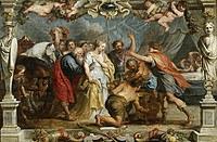 tablou rubens - nestor returns briseis by agamemnon to achilles (1630)