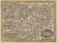tablou Harta antica transylvania, 1637