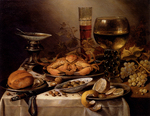 tablou claesz, pieter - banquet still life with a crab on a silver platter