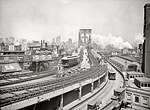 Tablou canvas brooklyn bridge, new york, 1903