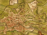 tablou map of roma, italy, 1570