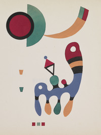 tablou wassily kandinsky - 11 tables and 7 poems. 1945