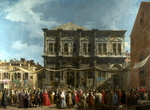 Tablou canaletto - venice - the feast day of saint roch