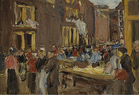 tablou max liebermann - jewish quarter in amsterdam, 1905