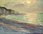 tablou claude monet   pourville, sunset, 1882