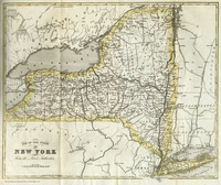 Tablou canvas old map of new york, 1851
