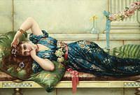 Tablou canvas emile eisman semenowsky - reclining odalisque
