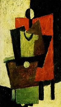 tablou picasso - femme assise dans un fauteuil rouge, 1918