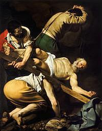 tablou caravaggio - crucifixion of saint peter 1600