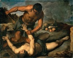 tablou jacopo palma - cain kills his brother