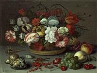 Tablou canvas flori, reproducere pictura (124), 1622