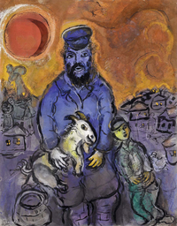 Tablou canvas marc chagall -  the man with the goat