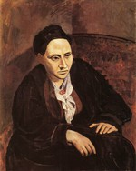 tablou picasso- portrait of gertrude stein [1905 6]