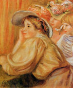 Tablou canvas Renoir - coco and two servants, 1910
