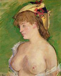 tablou edouard manet - blonde topless, 1878