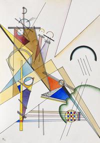 tablou wassily kandinsky - gewebe, 1923