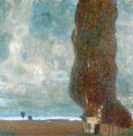 Tablou canvas Gustav Klimt - Large poplar