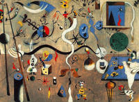 Tablou canvas joan miro - carnival of harlequins