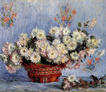 Tablou canvas claude monet   chrysanthemums, 1878