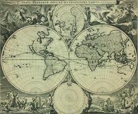 tablou harta antica, 1690