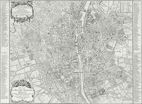 tablou harta antica paris, 1713