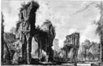 tablou piranesi - roma antica, alb negru 53