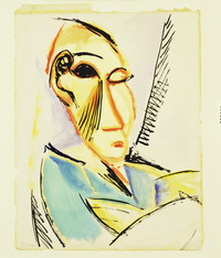 tablou picasso - head of the medical student