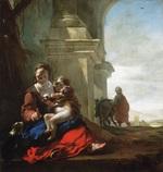 tablou jan baptist weenix - rest on the flight into egypt