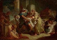 tablou francois boucher - baby pierre (1750)
