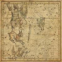 tablou star constellation, astrology map, 1820 (20)