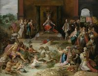 tablou frans francken - allegory on the abdication of emperor charles v in brussels