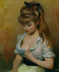 tablou marcel dyf - portrait of claudine