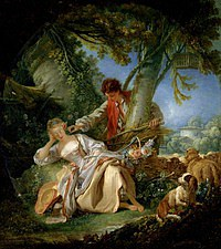 tablou francois boucher - dream (1750)