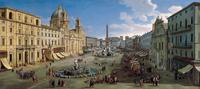 tablou caspar van wittel - piazza navona, rome