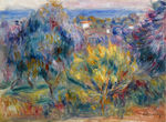 tablou renoir - landscape with a view on the sea 1