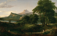 tablou thomas cole - the course of empire, the arcadian, 1836