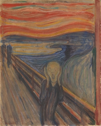 Tablou canvas edvard munch - the scream, 1893