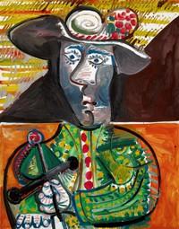 tablou pablo picasso   le matador,1970