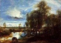tablou rubens - landscape in moonlight