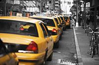 tablou new york, taxi, bicolor (8)