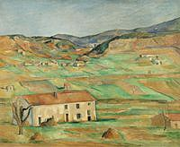 tablou paul cezanne - the outskirts of gardanne, 1886