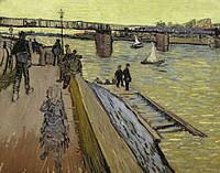tablou van gogh - the bridge at trinquetaille, 1888