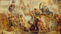 Tablou canvas rubens - triumph of henry iv