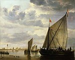 tablou aelbert cuyp - boats on the river