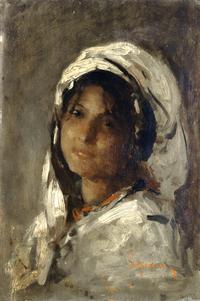 tablou nicolae grigorescu - portretul unei fete