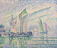 tablou paul signac - the channel of la roshelle, 1927